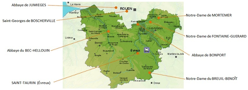 Carte Des Abbayes A Visiter