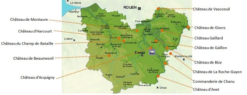Carte Des Chateaux Visiter